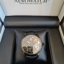 Aerowatch Renaissance Ceramic 43mm Black No numerals