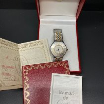 Cartier 21 Must de Cartier Золото/Cталь 28mm Белый Римские
