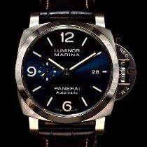 沛納海 Luminor Marina 鋼 44mm 藍色 阿拉伯數字