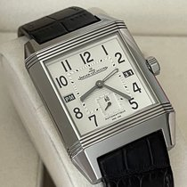 Jaeger-LeCoultre Reverso Squadra Hometime pre-owned 35mm White Date GMT