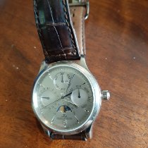 Jaeger-LeCoultre Master Control pre-owned 37mm Silver Crocodile skin