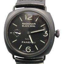 Panerai Ceramic Manual winding Black No numerals 44mm pre-owned Radiomir Black Seal