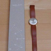 Junghans max bill Handaufzug używany 34mm Srebrny Skóra