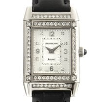 Jaeger-LeCoultre White gold Manual winding Silver 28.5mm pre-owned Reverso Lady