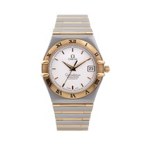 Omega Constellation Gold/Steel 35.5mm Silver No numerals United Kingdom, Macclesfield