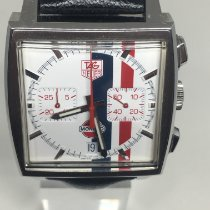 TAG Heuer Monaco Steel 38mm White No numerals