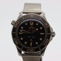 Omega Seamaster Diver 300 M Tytan 42mm Czarny Bez cyfr