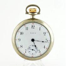 Elgin Reloj usados 1912 53mm Arábigos Cuerda manual Solo el reloj