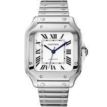 Cartier Santos (submodel) Steel 35mm Silver Roman numerals United States of America, Iowa, Des Moines