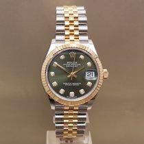 Rolex Datejust Gold/Steel 31mm Green