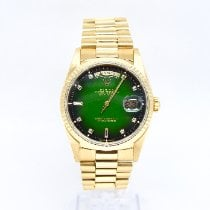 Rolex Day-Date 36 Yellow gold 36mm Green No numerals United Kingdom, Watford