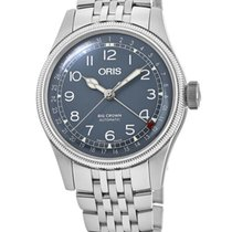 Oris Big Crown Pointer Date Acier 40mm Bleu Arabes