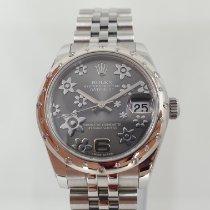 Rolex Plata Automático Gris 31mm usados Lady-Datejust