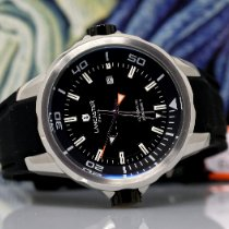 Lancaster new Automatic Display back Central seconds Rotating Bezel 45mm Steel Mineral Glass