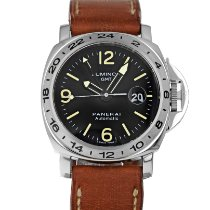 Panerai Luminor GMT Automatic Stål 44mm Svart