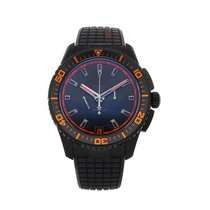 Zenith Ceramic Automatic Black No numerals 45mm pre-owned El Primero Stratos Flyback