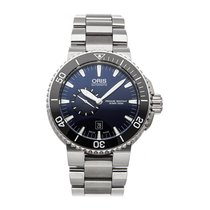 Oris Aquis Small Second pre-owned 46mm Blue Date Fold clasp