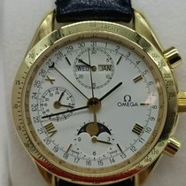 Omega Speedmaster Yellow gold 39mm White Roman numerals