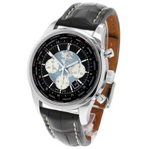 Breitling Transocean Chronograph Unitime pre-owned 46mm Chronograph Date GMT Leather