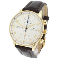 IWC Yellow gold Chronograph Arabic numerals 40.9mm pre-owned Portuguese Chronograph