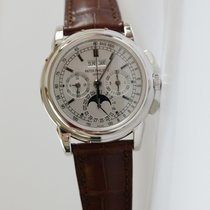 Patek Philippe White gold Manual winding Silver No numerals 40mm new Perpetual Calendar Chronograph