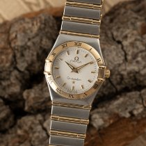 Omega Constellation Ladies Золото/Cталь 25mm Белый