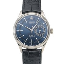 Rolex Cellini Date Witgoud 39mm Blauw