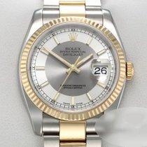 Rolex Lady-Datejust Aur/Otel 36mm Argint