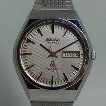Seiko Superior pre-owned 36mm Silver Date Weekday Steel