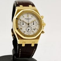 Audemars Piguet Yellow gold Automatic White No numerals 39mm pre-owned Royal Oak Chronograph
