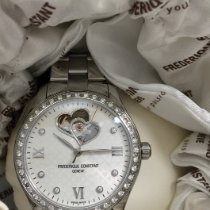 Frederique Constant Ladies Automatic Double Heart Beat Steel 36mm White