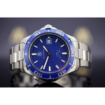 TAG Heuer Aquaracer 500M pre-owned 41mm Blue Date Steel