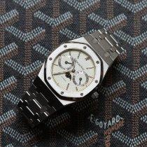 Audemars Piguet Royal Oak Day-Date Stahl 36mm Weiß Keine Ziffern