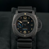 Panerai Luminor Submersible 1950 3 Days Automatic Carbono 47mm Negro Arábigos