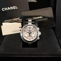 Chanel J12 Ceramic 41mm Silver Arabic numerals