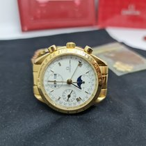 Omega Yellow gold Automatic White 39mm pre-owned Speedmaster Day Date