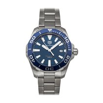 TAG Heuer Aquaracer 300M pre-owned 41mm Blue Date Fold clasp