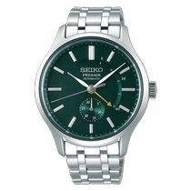 Seiko Presage Steel 42mm Green No numerals