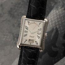 Piaget Emperador pre-owned 33.5mm Silver Date Crocodile skin