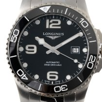 Longines HydroConquest pre-owned 43mm Black Date Steel