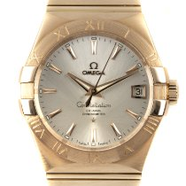 Omega Constellation Men Oro amarillo 38mm Plata