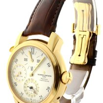 Vacheron Constantin Yellow gold Automatic Silver 39mm pre-owned Malte