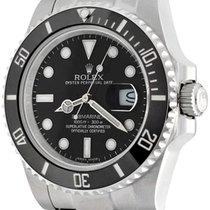 Rolex Автоподзавод Черный Без цифр 41mm подержанные Submariner Date