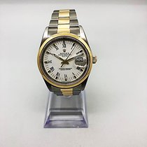 Rolex Oyster Perpetual Date Gold/Steel 34mm White