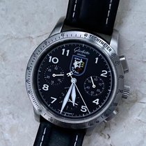 Glashütte Original Senator Navigator Chronograph Steel 39.00mm Black Roman numerals