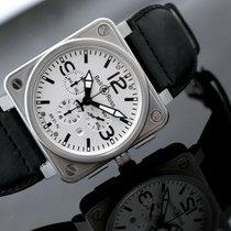 Bell & Ross BR 01-94 Chronographe Stahl 46mm Weiß Keine Ziffern