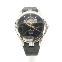 Edox Grand Ocean Steel 41mm Black No numerals