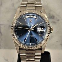 Rolex Day-Date 36 Белое золото 36mm Синий Без цифр