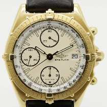 Breitling Gelbgold Automatik Weiß 39mm gebraucht Chronomat