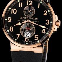Ulysse Nardin Marine Chronometer 41mm Açık kırmızı altın 41mm Siyah
